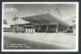 +++ CPA - Photo Carte - Foto Kaart - BRUGES - BRUGGE - Service Station N° 1 - St Pieterskaai 104  // - Brugge