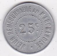 34. Hérault. Saint Mathieu De Treviers Maison Rigail 25 Centimes, En Aluminium - Monetary / Of Necessity