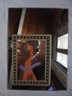Miroir Peint Portrait, Buste De Femme (Travail Artisanal) Années 80 - Arte Popolare