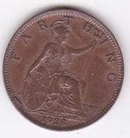 Grande-Bretagne. 1 Farthing 1928. George V - B. 1 Farthing