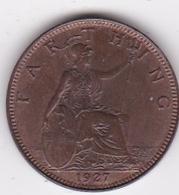 Grande-Bretagne. 1 Farthing 1927. George V - 1902-1971 : Monete Post-Vittoriane