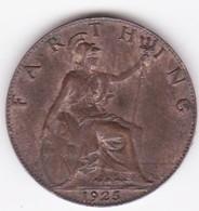 Grande-Bretagne. 1 Farthing 1925. George V - 1902-1971 : Monete Post-Vittoriane