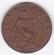 Grande-Bretagne. 1 Farthing 1924. George V - 1902-1971 : Monete Post-Vittoriane