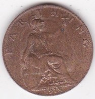 Grande-Bretagne. 1 Farthing 1918. George V - 1902-1971 : Monete Post-Vittoriane