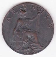Grande-Bretagne. 1 Farthing 1915. George V - 1902-1971 : Monete Post-Vittoriane