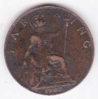 Grande-Bretagne. 1 Farthing 1902. Edward VII - 1902-1971 : Monete Post-Vittoriane