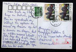 China 2004 Cards To Denmark ( Lot 343 ) - 1949 - ... République Populaire