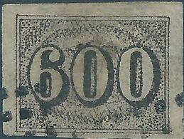 Brasil - Brasile - Brazil,1850 Value Stamps - 600R  Used, Value:€125,00 - Brasilien