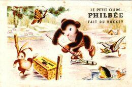 Publicité Le Petit Ours Philbée Fait Du Hockey - Postcards