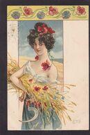 CPA Art Nouveau Femme Women Illustrateur Litho Non Circulé - Women