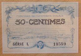 ALAIS( 30 Alès Gard  ) 50 Centimes Chambre De Commerce  16-08-1915 - Cámara De Comercio