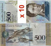 VENEZUELA       Lot Of 10 X 500 Bolívares       P-94b       23.3.2017       UNC - Venezuela