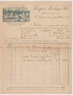 LE BOUSCAT: Prosper MOLINA, Château Mi-Cote ( Médoc ) / Fact De 1896 - Food