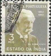 PORTUGUESE INDIA 1954 Birth Centenary Of Dr. Gama Pinto - 3r Dr. Gama Pinto FU - Inde Portugaise