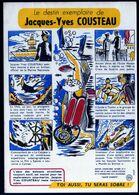 Buvard Prévention Alcoolisme Santé Sobriété N°9 Voir Série 10 Années 1960 JacquesYves Cousteau Explorateur V.Explication - Collections, Lots & Séries