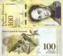 VENEZUELA       100,000 Bolívares       P-100b       13.12.2017       UNC  [ 100000 ] - Venezuela