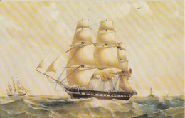 Sailing Vessel On The Sea Voiliers And The Lighthouse Leutchturm - Print Litho - Size 283/180 Mm - Boats