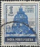PORTUGUESE INDIA 1951 300th Birth Anniversary Of Jose Vaz - 1t Sancoale Church Ruins FU - Inde Portugaise