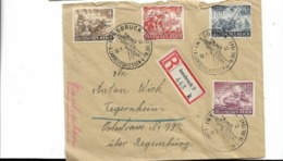 Sammlerbrief Aus Innsbruck 1943, Etwas Lediert - Cartas