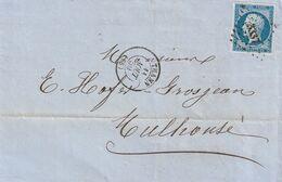 France Alsace Lettre Thann 1859 - Alsace Lorraine