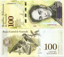 VENEZUELA       100,000 Bolívares       P-100b[4]       13.12.2017       UNC  [ 100000 ] - Venezuela