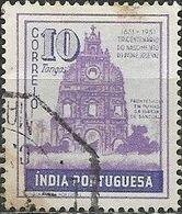 PORTUGUESE INDIA 1951 300th Birth Anniversary Of Jose Vaz - 10t Sancoale Church Ruins FU - Inde Portugaise