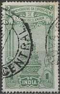 PORTUGUESE INDIA 1931 St Francis Xavier Exhibition - 1r. Monument To St Francis FU - Inde Portugaise