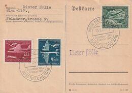 """Deutsches Reich / 1944 / Mi. 866-868 """"Luftpostdienst"""" Auf Postkarte (A541) - Lettres & Documents"""