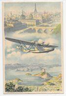 Ligne MERMOZ - AIR FRANCE 1935 Felicidades Greetings Bonne Année BRESIL FRANCE PAR AVION - 16 - Vliegtuigen