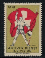 Suisse /Schweiz/Switzerland // Vignette Militaire // Commandement, 8 Division - Viñetas