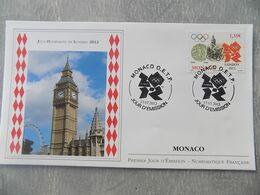 FDC Monaco 2012 : Jeux Olympiques De Londres 2012 - FDC