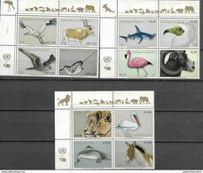 UN, 2020, MNH, THREATENED SPECIES, BIRDS, WHALES, SHARKS, LIONS, WILD SHEEP, 12v - Andere