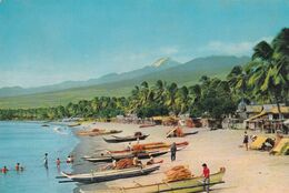 TALOMO BEACH WITH MT. APO TALLEST MOUNTAIN PEAK IN THE PHILIPPINES. DAVAO CITY. CPSM NON CIRCULEE -LILHU - Philippines