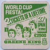 Beer Mat/coaster GREEN KING - FOOTBALL - Bierviltjes