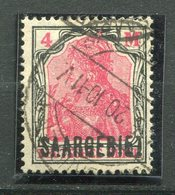 19517 SARRE N°49 ° 4m. Noir Et Rouge  Timbre D'Allemagne De 1905-20 Avec SAARGEBIET En Surcharge  1920  TB/TTB - Gebruikt