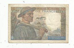 Billet , FRANCE , 10 , Dix  Francs , MINEUR ,  10-3-1949 ,  2 Scans - 10 F 1941-1949 ''Mineur''