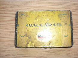 Old Tin Box Baccarat Garbaty 25 Cigarettes - Empty Tobacco Boxes