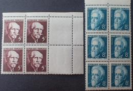 R1337/438 - 1948 - PAUL LANGEVIN / JEAN PERRIN - N°820 à 821 BLOCS NEUFS** BdF / CdF - Ongebruikt