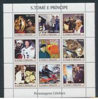 Saint Thomas 2003 Pompiers PASTEUR Pope Jean Paul II Copernic Gauguin Sir Alexandre Fleming Disney  MNH - Louis Pasteur