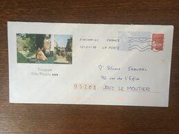 PRET A POSTER REPIQUAGE TOUQUES VILLE FLEURIE 809 B2J/0203872 CHEVAUX - Prêts-à-poster:  Autres (1995-...)