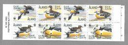 Aland Finland 2001 Steller's Eider ** Booklet WWF Birds Oiseau Vogel Unused Postfrisch Neuf - Aland