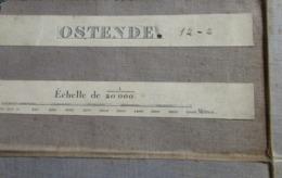 Stafkaart Ca 1888/1890 Met Oostende  Mariakerke Raversijde Wilskerke Leffinge Stene Enz. - Knokke