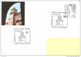 ITALIA - 2003 CARPI (MO) 8^ Carpi Collezione (torre Dell'orologio Del Castello Dei Pio) - 87 - Châteaux