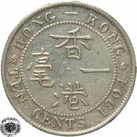 LaZooRo: Hong Kong 10 Cents 1904 XF - Silver - Hongkong