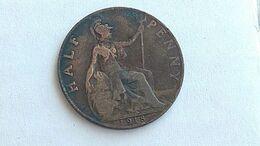 Grat Britain  England One Penny 1918  #17 - Gran Bretagna
