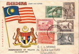 Postal History Cover: Malaya Cover From 1957 - Federation Of Malaya