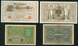 LOT DE 5 BILLETS D'ALLEMAGNE  - AUTRICHE - POLOGNE - RUSSIE - Alla Rinfusa - Banconote