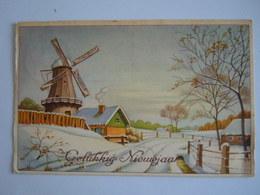 Gelukkig Nieuwjaar Winter Landschap Molen Moulin Paysage Hivernal Gelopen 1947 België Coloprint 3580 - Neujahr