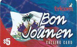 USA - Bon Jounen, Tricom Prepaid Card $5, Used - Unclassified
