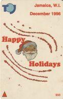 JAMAICA(GPT) - Happy Holidays, Christmas 1996, CN : 115JAMA/B(Ll, Normal 0), Used - Giamaica